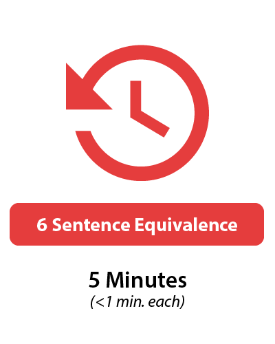 GRE Verbal Sentence Equivalence