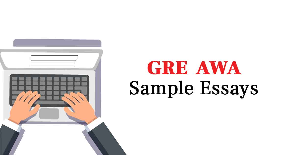 gre sample essay